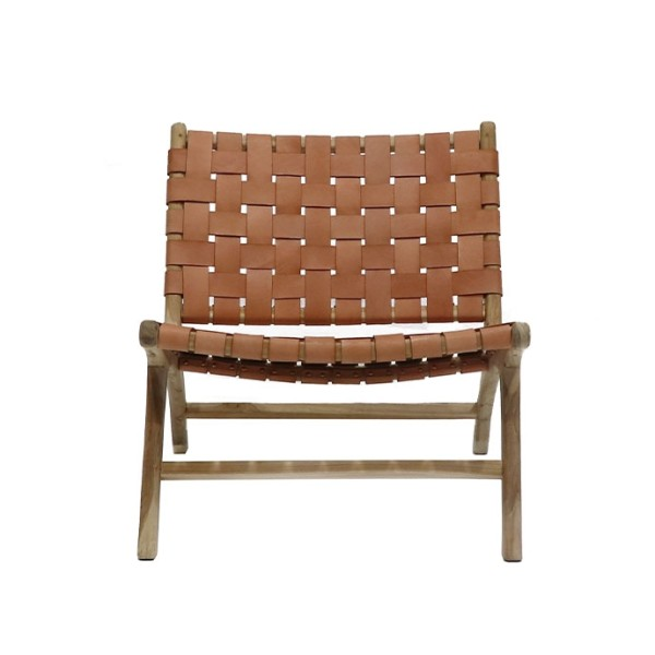 Hayes Leather Low Chair - Tan