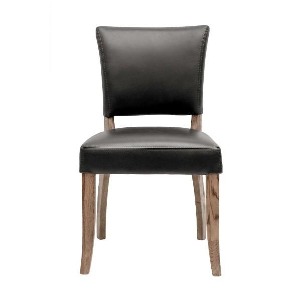 Crane Leather Dining Chair - Black
