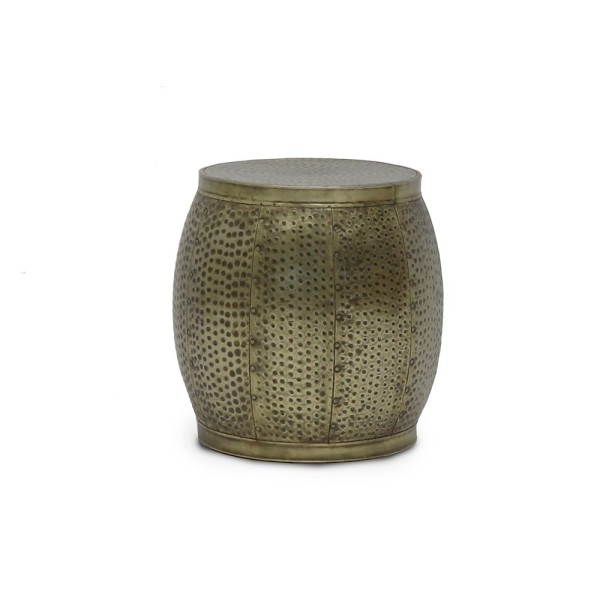 Chandri Round Brass Side Table - Small