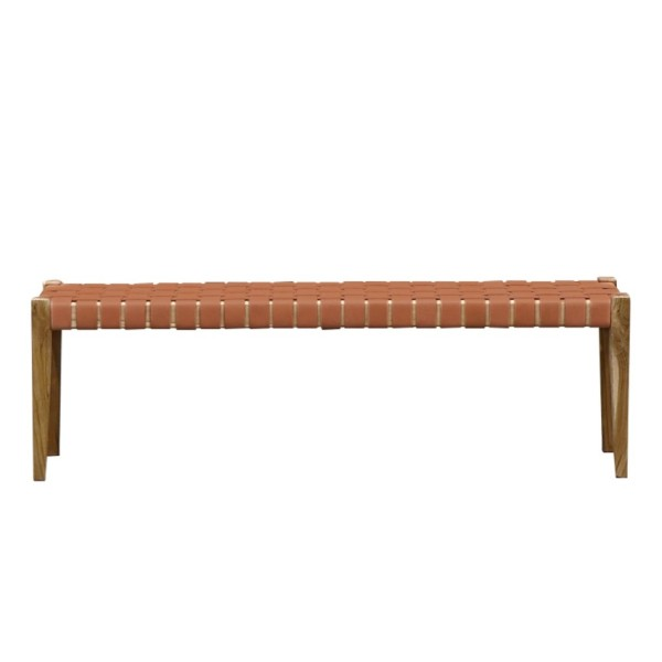 Hayes Leather Bench 150cm - Tan