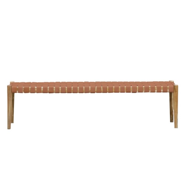 Hayes Leather Bench 180cm - Tan