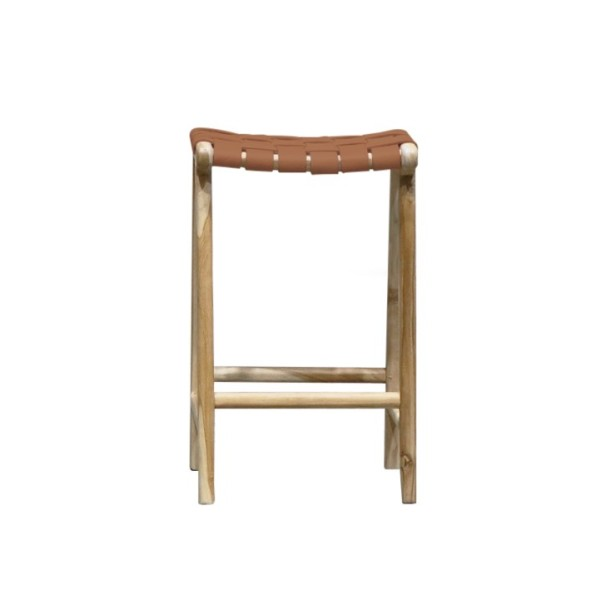 Hayes Leather Counter Stool - Tan