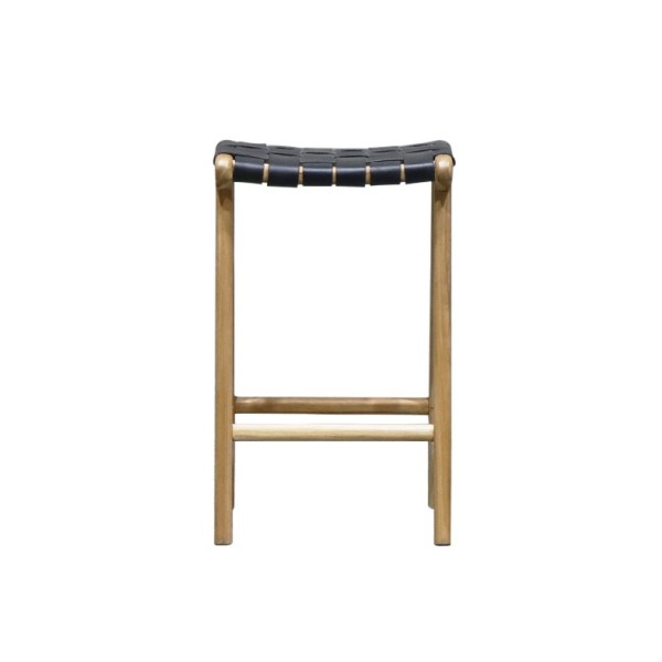 Hayes Leather Counter Stool - Black