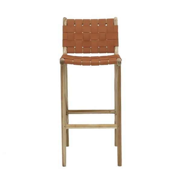 Hayes Leather Barstool - Tan