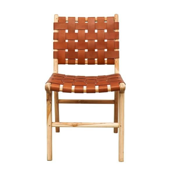 Hayes Leather Dining Chair - Tan