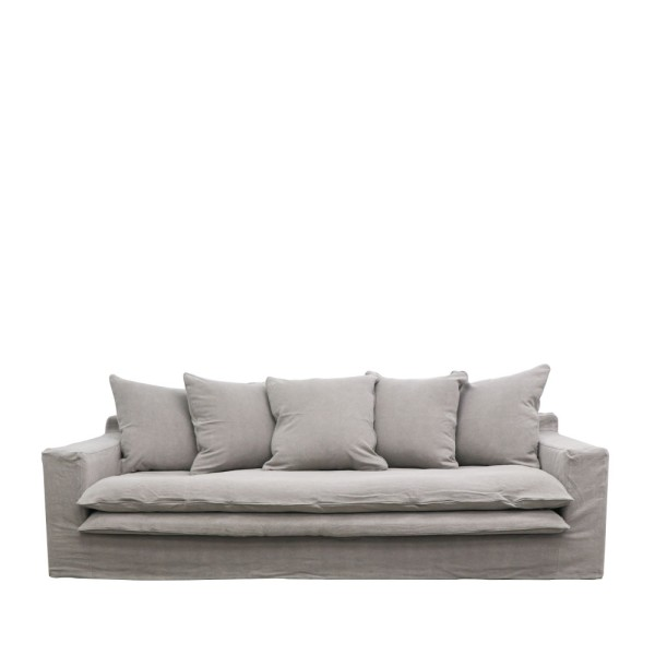 Keely Slipcover Sofa - Cement