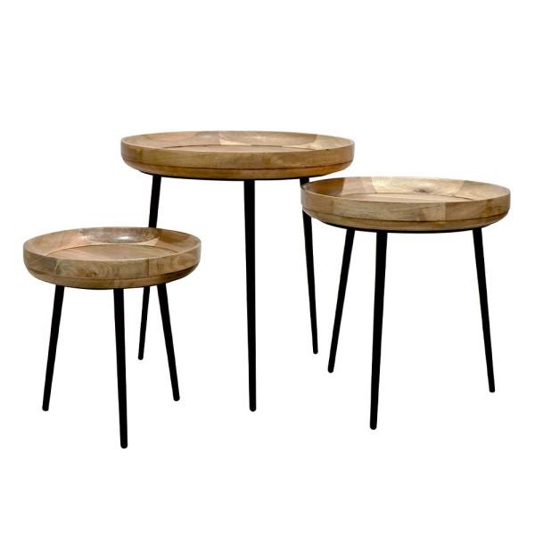 Chandri Round Side Table - Set