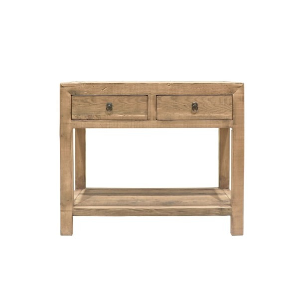 Parq 2 Drawer Console With lower Shelf