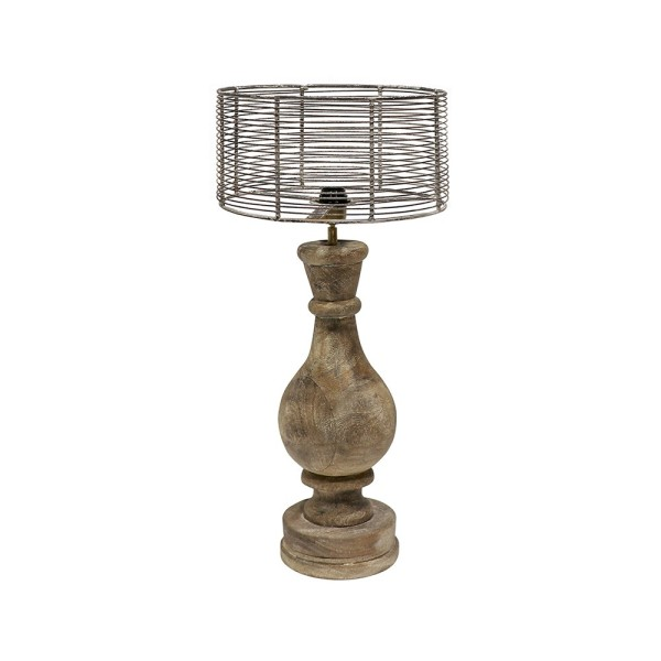 Liverpool Wood & Wire Table Lamp