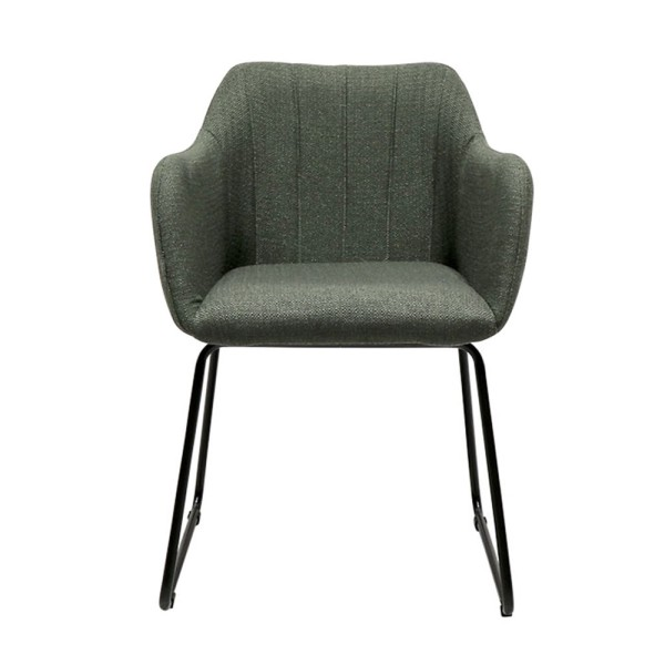 Folio Fabric Dining Chair - Green