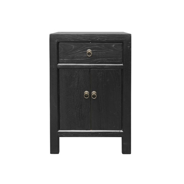 Parq Bedside Table - Black