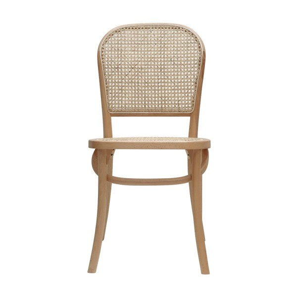 Bentwood Rattan Dining Chair - Natural