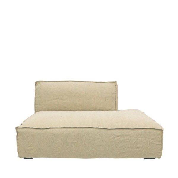 Maddox Sectional Sofa L/H Armless  - Natural