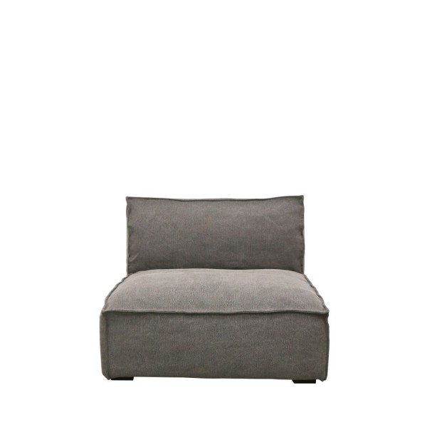 Maddox Sectional Sofa 1 Seater - Charcoal