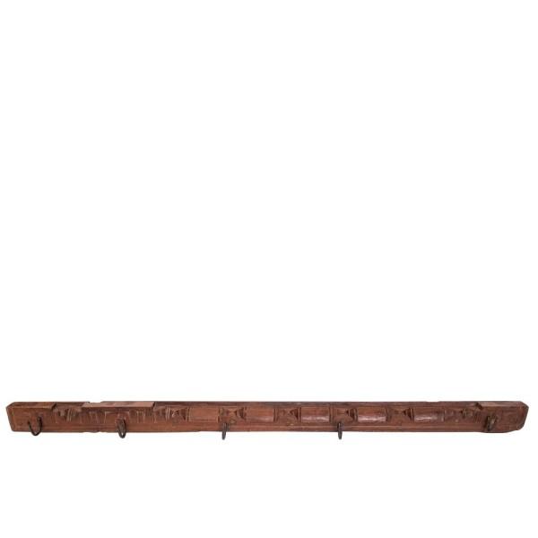 Original Wood Hanger 5 Iron Hooks