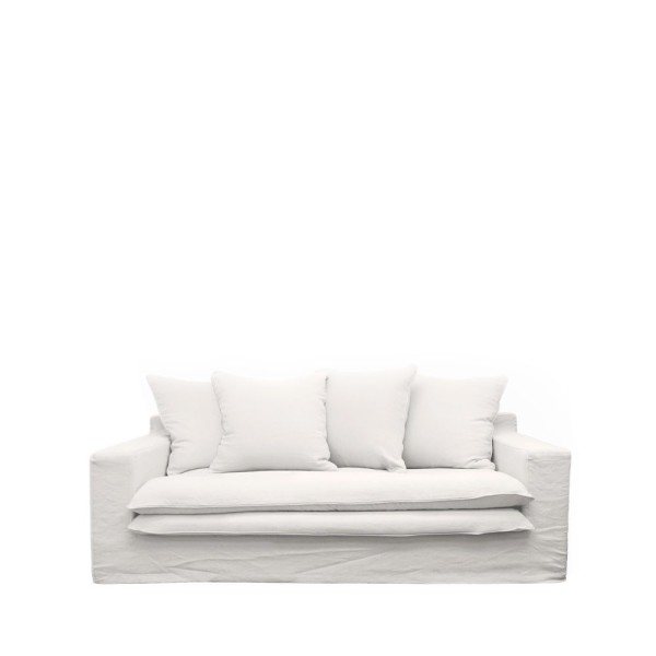 Keely Slipcover Sofa 2 seater - White
