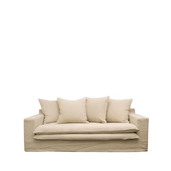 Keely Slipcover Sofa 2 seater - Oatmeal