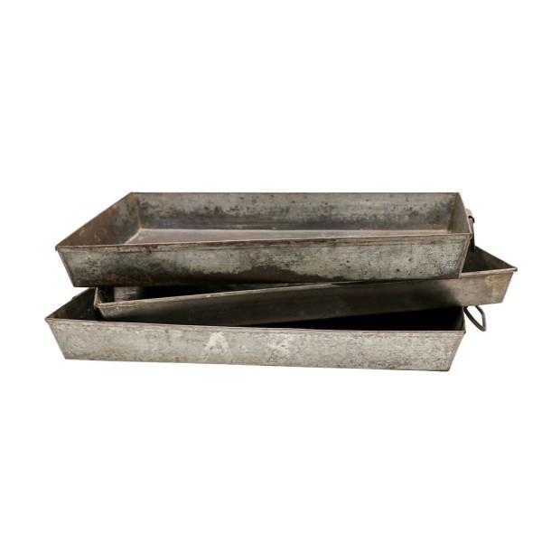 Original Metal Tray with Handles