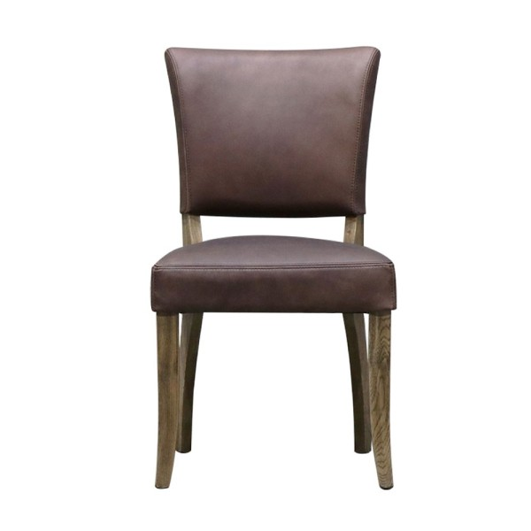 Crane Leather Dining Chair - Brown
