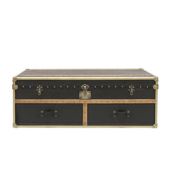 Voyager Trunk Coffee Table - Aged Black